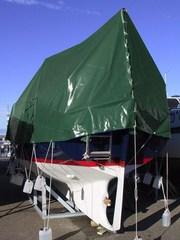 Tarpaulin 6x10 m PVC 570 g. Green